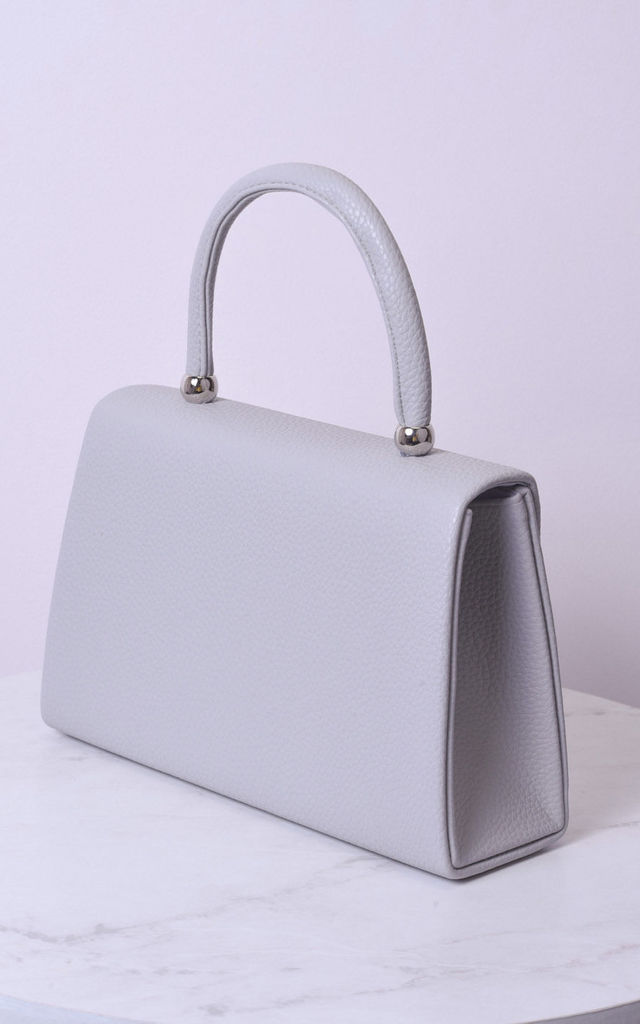 Faux leather mini envelope tote bag grey by LILY LULU FASHION
