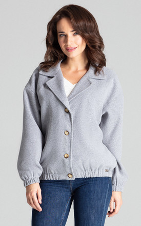 Grey Short Jacket by LENITIF