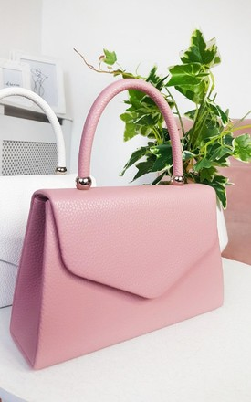 Selena Faux Leather Handbag in Pink by IKRUSH