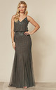 Keeva Maxi Dress in Stone by Lace & Beads