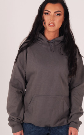 Dark Grey Oversized Hoodie by LimeBlonde