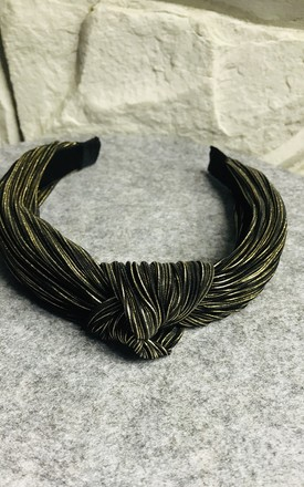 Metallic Knotted Alice Band (Bronze) by Pink Lemonade Boutique