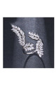 Crystal Leaf Ring in Silver by Always Chic