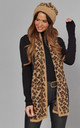 LEOPARD HAT AND SCARF SET IN CAMEL by Malissa J Collection