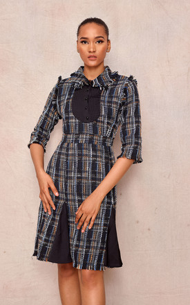 3/4 Sleeve Dress In Autumn Plaid by April & Alex Product photo