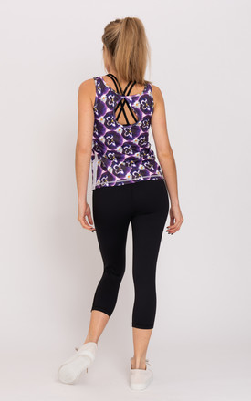 Pretty Pansy Print Key Hole Vest by Daisy & Co London