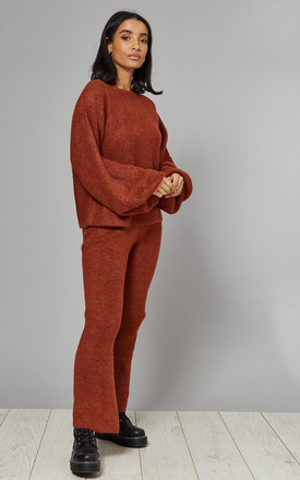 Knitted Loungewear Set in Camel | Jumper and Trousers by CY Boutique