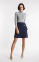 Navy blue mini skirt with buttons by Bergamo