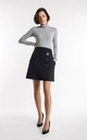 Black mini skirt with buttons by Bergamo