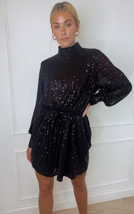 Fifi Sequin Dress   Black by Pretty Lavish Product photo