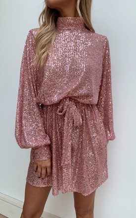 Fifi Sequin Dress   Pink by Pretty Lavish Product photo