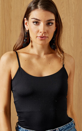 Strappy Vest Top In Black by VILA Product photo