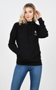 Black Lucy Sparks Embroidered Logo Hoodie by Lucy Sparks