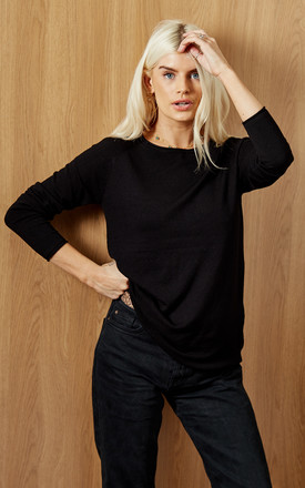 Long Sleeve Knitted Jumper In Black by VM Product photo