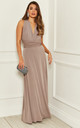 EXCLUSIVE Alexis mink multi way maxi bridesmaid dress by Revie London