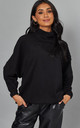 Black RIPPLE DETAIL JERSEY SWEATSHIRT by Malissa J Collection