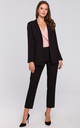 Single Button Blazer in Black by Dursi