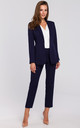 Single Button Blazer in Navy Blue by Dursi