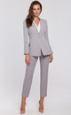 Single Button Blazer in Grey by Dursi