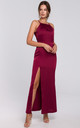 Strappy Maxi Dress with Split Leg in Maroon by Dursi