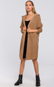 Oversized Hooded Cardigan in Camel by MOE