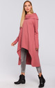 Pink Asymmetric Oversized Sweatshirt with Wide Neck by MOE