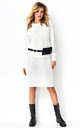 Jumper and Skirt Co-Ord Set in White by Makadamia