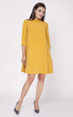 Swing Dress with Frill Neck in Yellow by Bergamo