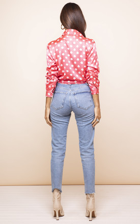 Nevada Shirt In Red Dotty by Dancing Leopard
