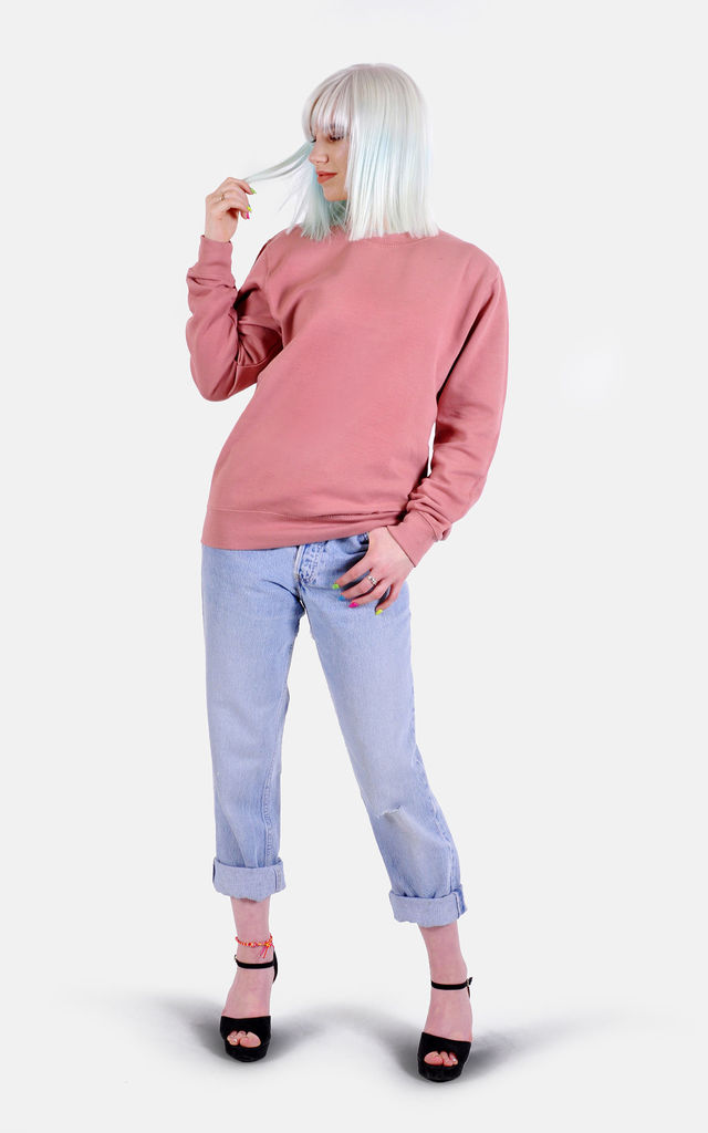 Dusky Pink Sweatshirt by The Left Bank
