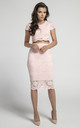 Pencil Lace Skirt with High Waist in Light Pink by Bergamo