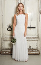 GRACEY EMBELLISHED MAXI DRESS IN WHITE by Sistaglam