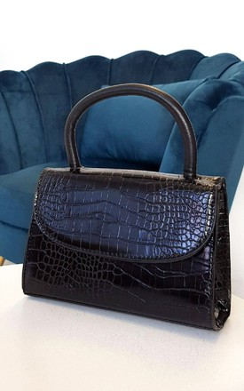 Sara Faux Leather Handbag in black by IKRUSH