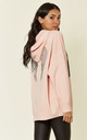 Pink Knitted Hoodie with Angel Wings by HOXTON GAL