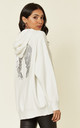 Cream Knitted Hoodie with with Angel Wings by HOXTON GAL