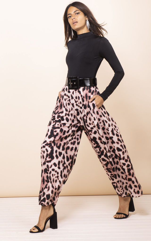 Joey Palazzo Trousers Blush Leopard by Dancing Leopard