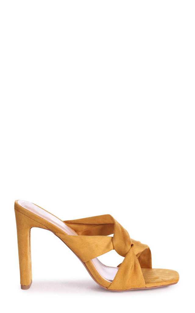Gotta Have Mustard Knotted Mules by Linzi