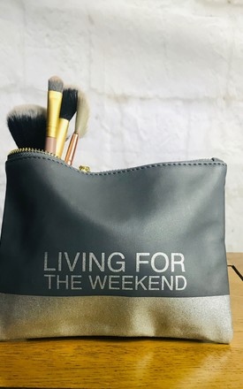 'Living for the Weekend' Makeup Bag by Pink Lemonade Boutique
