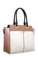 MULTI COLOUR CROC PRINT TOTE BAG in BEIGE by BESSIE LONDON