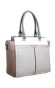 MULTI COLOUR CROC PRINT TOTE BAG in GREY by BESSIE LONDON
