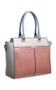 MULTI COLOUR CROC PRINT TOTE BAG in PEACH by BESSIE LONDON