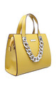 URBAN ACRYLIC CHAIN TOTE BAG IN YELLOW by BESSIE LONDON