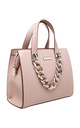 URBAN ACRYLIC CHAIN TOTE BAG IN PINK by BESSIE LONDON