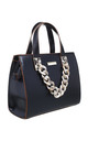 URBAN ACRYLIC CHAIN TOTE BAG IN BLACK by BESSIE LONDON