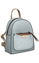 GREEN SMALL CROC PRINT BACKPACK by BESSIE LONDON