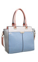 MULTI COLOUR CROC PRINT TOTE BAG in BLUE by BESSIE LONDON