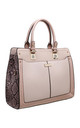 PINK SNAKE PRINT TOTE BAG by BESSIE LONDON