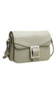 BUCKLE FLAP OVER CROSS BODY BAG in GREEN by BESSIE LONDON