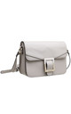 BUCKLE FLAP OVER CROSS BODY BAG in BEIGE by BESSIE LONDON