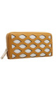 LARGE LASER CUT PURSE IN YELLOW by BESSIE LONDON